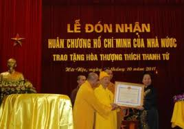 Hòa thượng Thích Thanh Tứ được Huân chương Nhà Nước