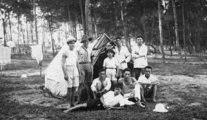 Lều vải trong Rừng Sặt họp bạn Jamboree
