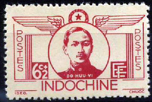 Đại Úy Đỗ Hữu Vị trên bưu phiếu thời Pháp thuộc