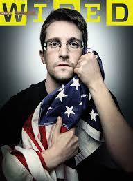 Ed Snowden khi gặp Bamford (2014)