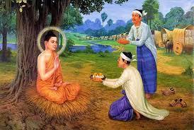 Ông Thuần Đà dâng cúng Đức Phật thọ trai