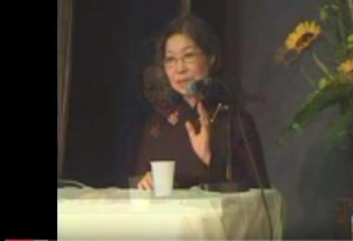 Phạm Thảo Nguyên trong một cuộc thảo luận..