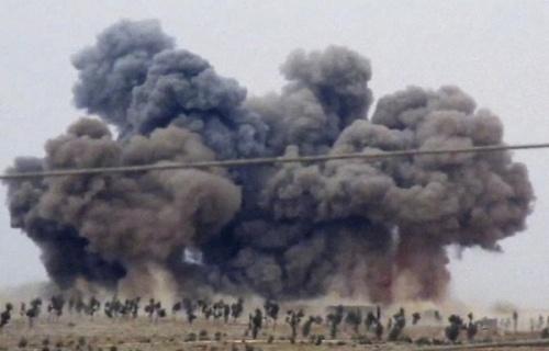 Mưa bom của Không quân Nga