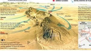 Bản đồ Syria với rặng núi Sinjar