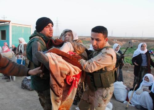 Dân tôc Yazidi dắt nhay chạy trốn